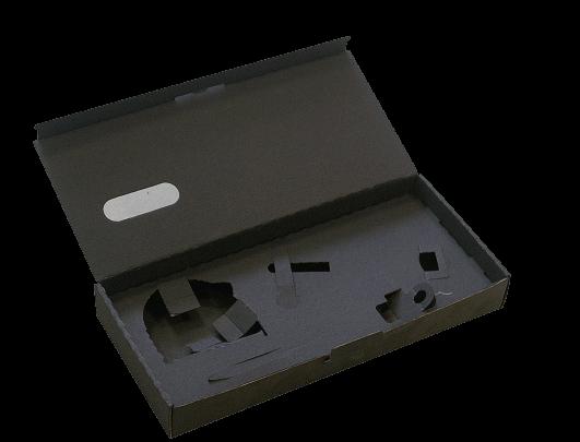 Boîte presse avec calages spéciaux